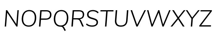 Nunito Sans Light Italic Font UPPERCASE