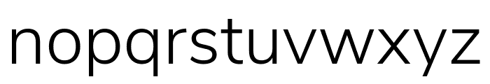 Nunito Sans Light Font LOWERCASE
