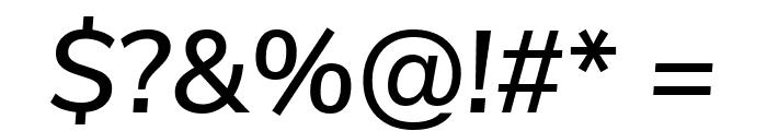 Nunito Sans SemiBold Italic Font OTHER CHARS