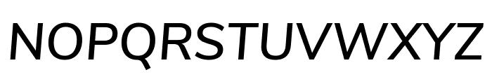 Nunito Sans SemiBold Italic Font UPPERCASE