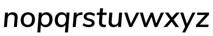 Nunito Sans SemiBold Italic Font LOWERCASE