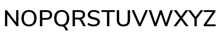 Nunito Sans SemiBold Font UPPERCASE