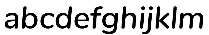 Nunito SemiBold Italic Font LOWERCASE