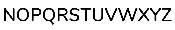 Nunito SemiBold Font UPPERCASE