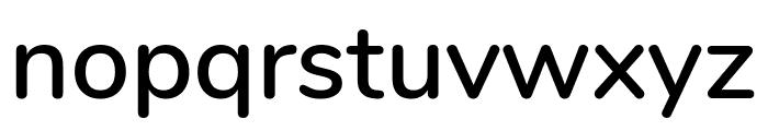 Nunito SemiBold Font LOWERCASE