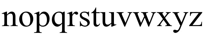 Nuosu SIL Font LOWERCASE
