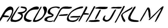 nuevostencil tilted Font UPPERCASE