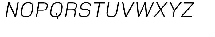 Nuber Italic Font UPPERCASE