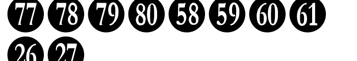 Numberpile Regular Font OTHER CHARS