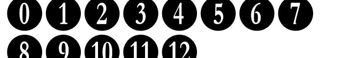 Numberpile Regular Font UPPERCASE