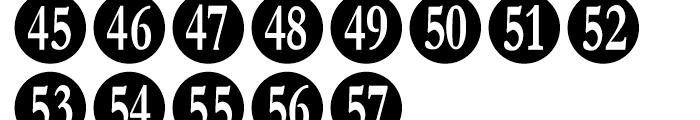 Numberpile Regular Font LOWERCASE