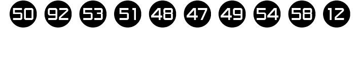 Numbers Style One Font OTHER CHARS