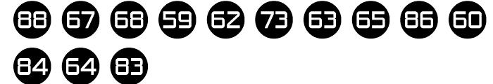Numbers Style One Font UPPERCASE