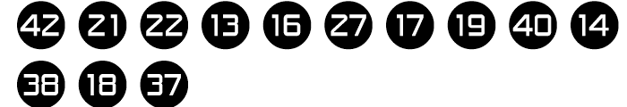 Numbers Style One Font LOWERCASE