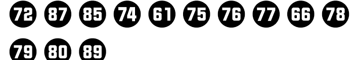 Numbers Style Two Circle Negative Font UPPERCASE