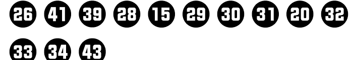 Numbers Style Two Circle Negative Font LOWERCASE