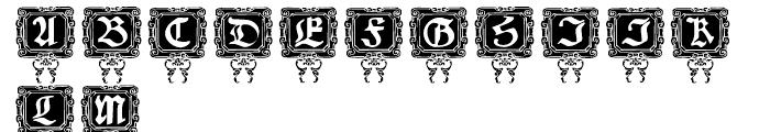 Nurnberg Schwabacher Capitals Font UPPERCASE