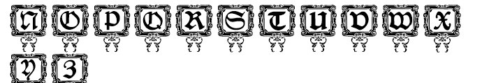 Nurnberg Schwabacher Capitals Font LOWERCASE