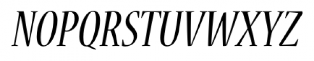 Nueva� Std Condensed Italic Font UPPERCASE