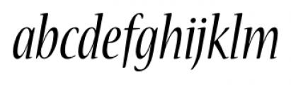 Nueva� Std Condensed Italic Font LOWERCASE