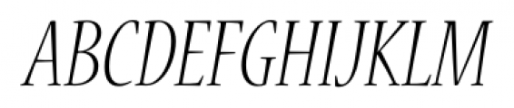 Nueva� Std Condensed Light Italic Font UPPERCASE