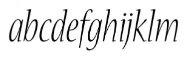 Nueva� Std Condensed Light Italic Font LOWERCASE