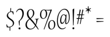 Nueva� Std Condensed Light Font OTHER CHARS