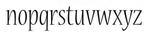 Nueva� Std Condensed Light Font LOWERCASE