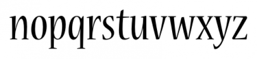 Nueva� Std Condensed Regular Font LOWERCASE