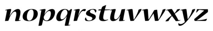 Nueva� Std Extended Bold Italic Font LOWERCASE