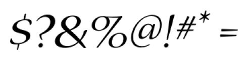 Nueva� Std Extended Italic Font OTHER CHARS
