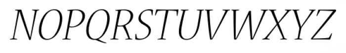 Nueva� Std Light Italic Font UPPERCASE