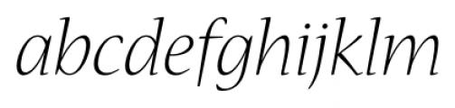 Nueva� Std Light Italic Font LOWERCASE