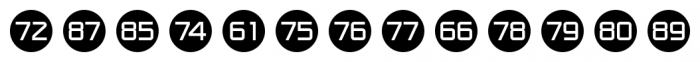 Numbers Style One Circle Negative Font UPPERCASE