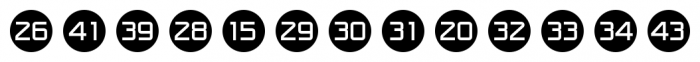 Numbers Style One Circle Negative Font LOWERCASE