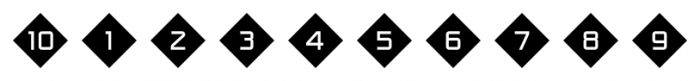 Numbers Style One Diamond Negative Font OTHER CHARS