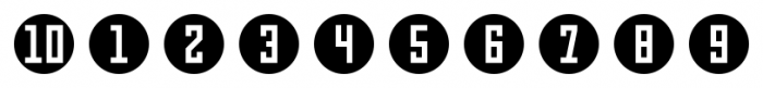 Numbers Style Three Circle Negative Font OTHER CHARS
