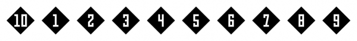 Numbers Style Three Diamond Negative Font OTHER CHARS