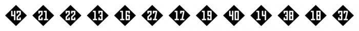 Numbers Style Three Diamond Negative Font LOWERCASE