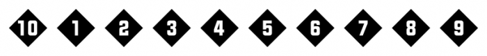 Numbers Style Two Diamond Negative Font OTHER CHARS