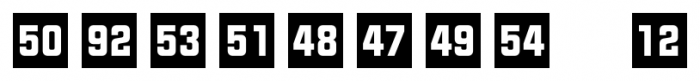 Numbers Style Two Square Negative Font OTHER CHARS