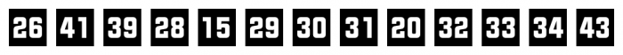 Numbers Style Two Square Negative Font LOWERCASE