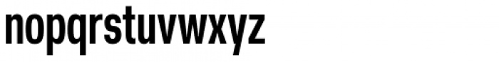 Nuber Next Heavy Compressed Font LOWERCASE