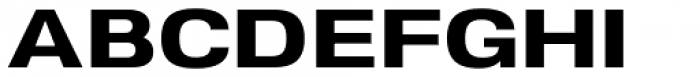 Nuber Next Heavy Extended Font UPPERCASE