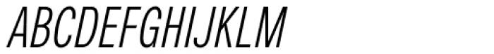 Nuber Next Regular Compressed Italic Font UPPERCASE