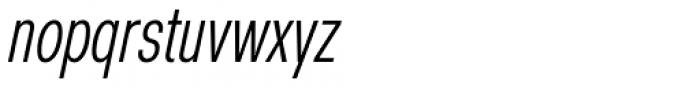 Nuber Next Regular Compressed Italic Font LOWERCASE