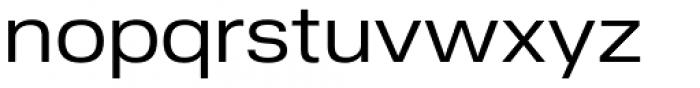 Nuber Next Regular Wide Font LOWERCASE