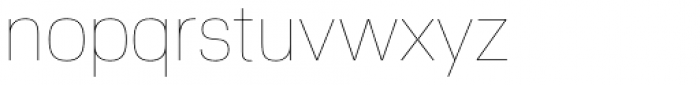 Nuber Next Thin Font LOWERCASE