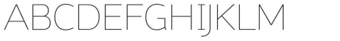 Nubian Thin Font UPPERCASE