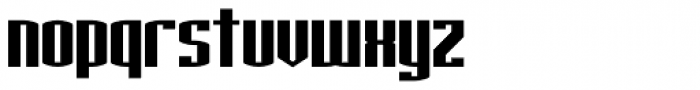Nuclear Standard Font LOWERCASE